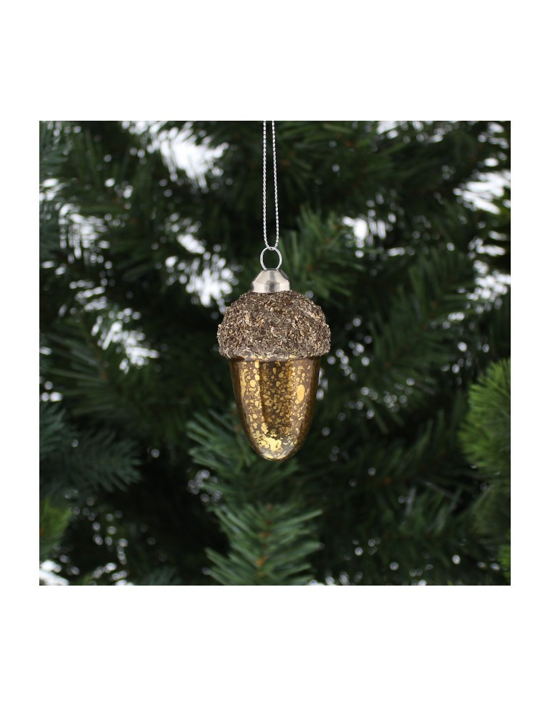 Christmas Gl Acorn Decoration
