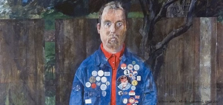 Self Portrait with Badges, Peter Blake